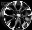 7 x 17 ET50 d67,1 PCD5*114,3 K&K КС740 Алмаз черный - Mazda CX-5